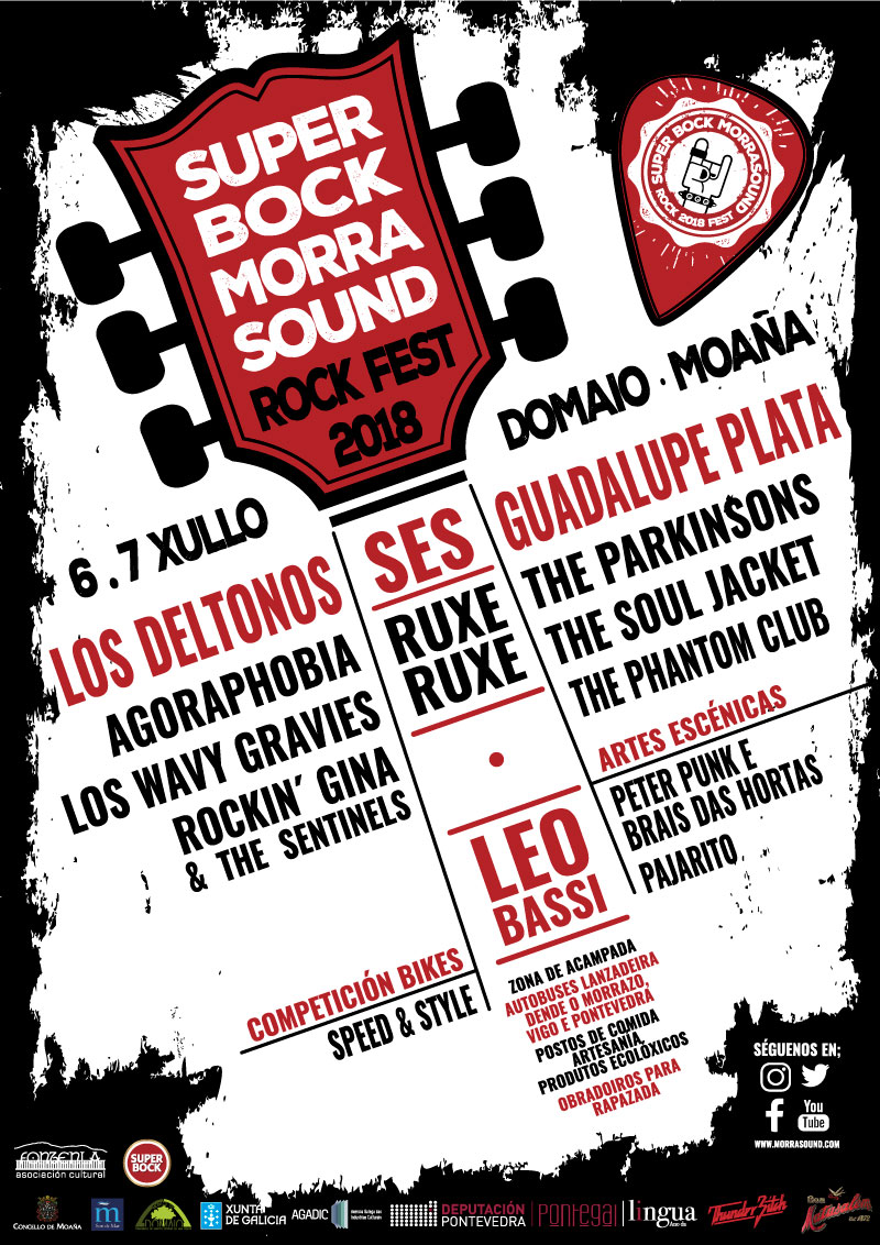 Cartaz Super Bock Morrasound Rock Fest 2018